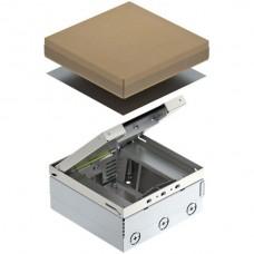 Bodendose UD-Home 4 leer für 6 FLF 199x199 T.95-125mm Inox A2