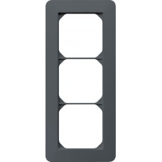 Abdeckrahmen kallysto.trend 3×1 anthrazit 94×214mm