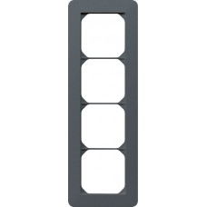 Abdeckrahmen 4x1/1x4 anthrazit kallysto.trend 274x94mm