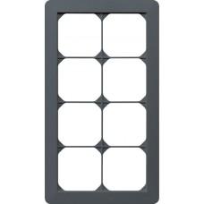 Abdeckrahmen 4x2/2x4 anthrazit kallysto.trend 274x154mm