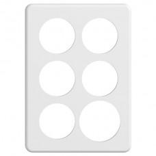 Abdeckplatte STANDARDdue 3×2 weiss 5×53, 1×60