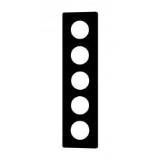 Abdeckplatte 5x1 326x86 schwarz 5xØ43mm
