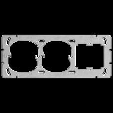 Befestigungsplatte  FH Waagrecht 1x3  2 Einheitsausschnitten und 1 Ausschnitt für 1185