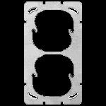 Befestigungsplatte FH 2x1 Senkrecht