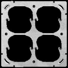 Befestigungsplatte FH 2x2 4x52mm vertikal