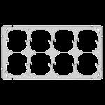 Befestigungsplatte FH 2x4 8x52mm horizontal