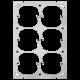 Befestigungsplatte FH 3x2 6x52mm vertikal