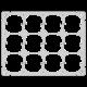 Befestigungsplatte FH 3x4 12x52mm horizontal