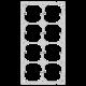 Befestigungsplatte FH 4x2 8x52mm vertikal