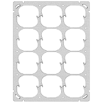 Befestigungsplatte FH 4x3 12x52mm vertikal