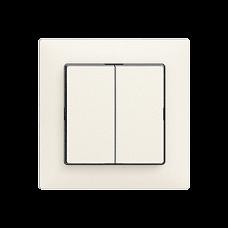 Frontplatte EDIZIOdue colore 60x60mm für Druckknopf 2-fach