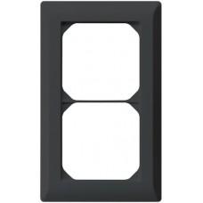 Abdeckrahmen,2x1,schwarz kallysto.line,152x92,vertikal