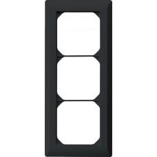 Abdeckrahmen,3x1,schwarz kallysto.line,212x92mm,vertikal