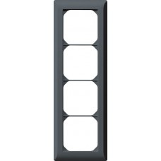 Abdeckrahmen,4x1,anthrazit kallysto.line,272x92mm,vertikal
