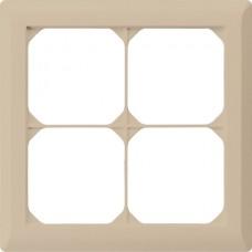Abdeckrahmen,2x2,beige kallysto.line,152x152mm