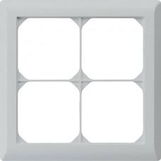Abdeckrahmen,2x2,hellgrau kallysto.line,152x152mm