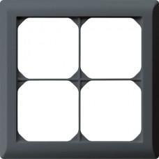 Abdeckrahmen,2x2,anthrazit kallysto.line,152x152mm