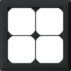 Abdeckrahmen,2x2,schwarz kallysto.line,152x152mm