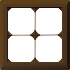 Abdeckrahmen,2x2,braun kallysto.line,152x152mm