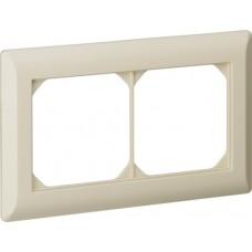 Abdeckrahmen,1x2,beige kallysto.line,92x152mm,horizontal