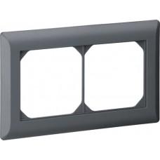 Abdeckrahmen 1x2 anthrazit kallysto.line 92x152mm horizontal
