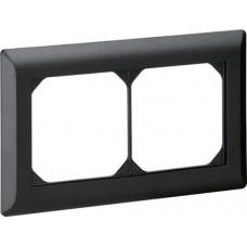 Abdeckrahmen 1x2 schwarz kallysto.line 92x152mm horizontal