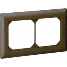 Abdeckrahmen 1x2 braun kallysto.line 92x152mm horizontal