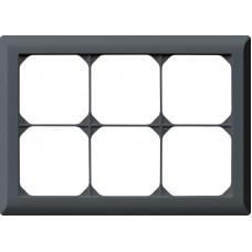 Abdeckrahmen,2x3,anthrazit kallysto.line,152x212,horizontal