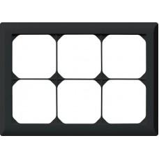 Abdeckrahmen,2x3,schwarz kallysto.line,152x212,horizontal
