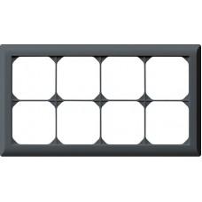 Abdeckrahmen,2x4,anthrazit kallysto.line,152x272,horizontal