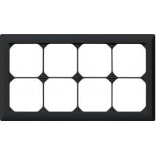 Abdeckrahmen,2x4,schwarz kallysto.line,152x272,horizontal