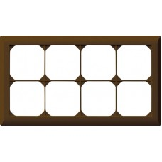 Abdeckrahmen,2x4,braun kallysto.line,152x272,horizontal