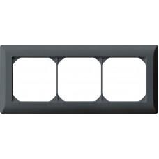 Abdeckrahmen 1x3 anthrazit kallysto.line 92x212mm horizontal