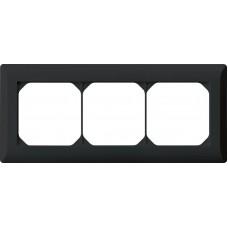 Abdeckrahmen 1x3 schwarz kallysto.line 92x212mm horizontal