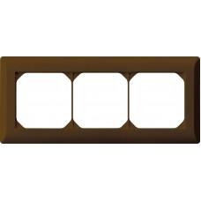 Abdeckrahmen 1x3 braun kallysto.line 92x212mm horizontal