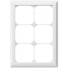 Abdeckrahmen,3x2,weiss kallysto.line,212x152mm,vertikal