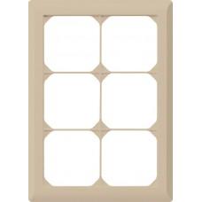 Abdeckrahmen 3x2 beige kallysto.line 212x152mm vertikal