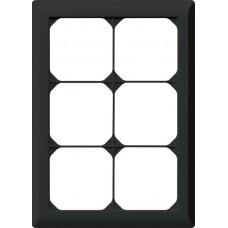 Abdeckrahmen,3x2,schwarz kallysto.line,212x152mm,vertikal