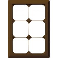 Abdeckrahmen,3x2,braun kallysto.line,212x152mm,vertikal