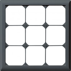 Abdeckrahmen,3x3,anthrazit kallysto.line,212x212mm