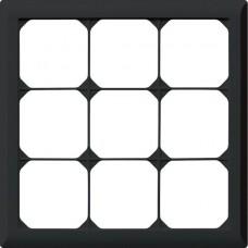 Abdeckrahmen,3x3,schwarz kallysto.line,212x212mm