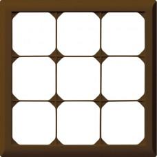 Abdeckrahmen,3x3,braun kallysto.line,212x212mm