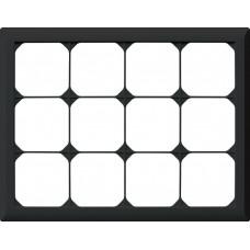 Abdeckrahmen,3x4,schwarz kallysto.line,212x272,horizontal