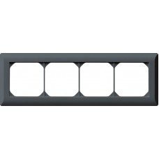 Abdeckrahmen 1x4 anthrazit kallysto.line 92x272mm horizontal