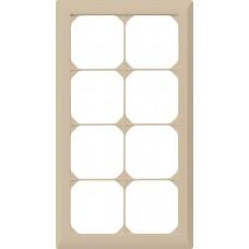 Abdeckrahmen,4x2,beige kallysto.line,272x152mm,vertikal