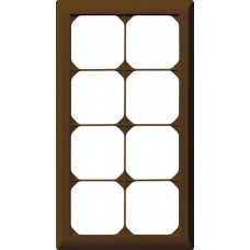 Abdeckrahmen,4x2,braun kallysto.line,272x152mm,vertikal