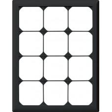 Abdeckrahmen,4x3,schwarz kallysto.line,272x212mm,vertikal