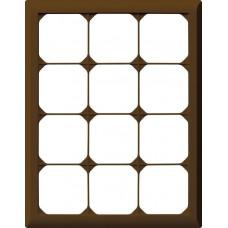 Abdeckrahmen,4x3,braun kallysto.line,272x212mm,vertikal
