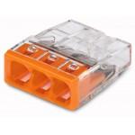 Steckklemme Wago 3L 0,5-2,5mm² 24A Dosenklemme COMPACT 450V - 100stk