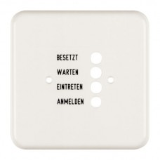 Abdeckplatte,1x1,86x86,weiss Standard,deutsch,für Türstation